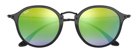 Ray-Ban ROUND FLECK FLASH LENSES GRADIENT Nero con lente Verde Gradient Flash