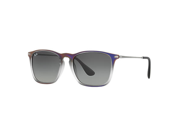 Ray-Ban 0RB4187-CHRIS Violet,Grey; Gunmetal SUN