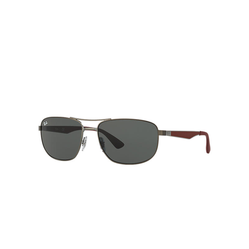 Ray-Ban Red Sunglasses, Green Lenses - Rb3528 8053672561838