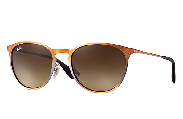 Ray-Ban 0RB3539-ERIKA METAL Marron SUN