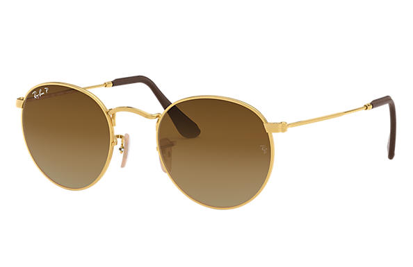 Ray-Ban 0RB3447-ROUND METAL at Collection Gold SUN