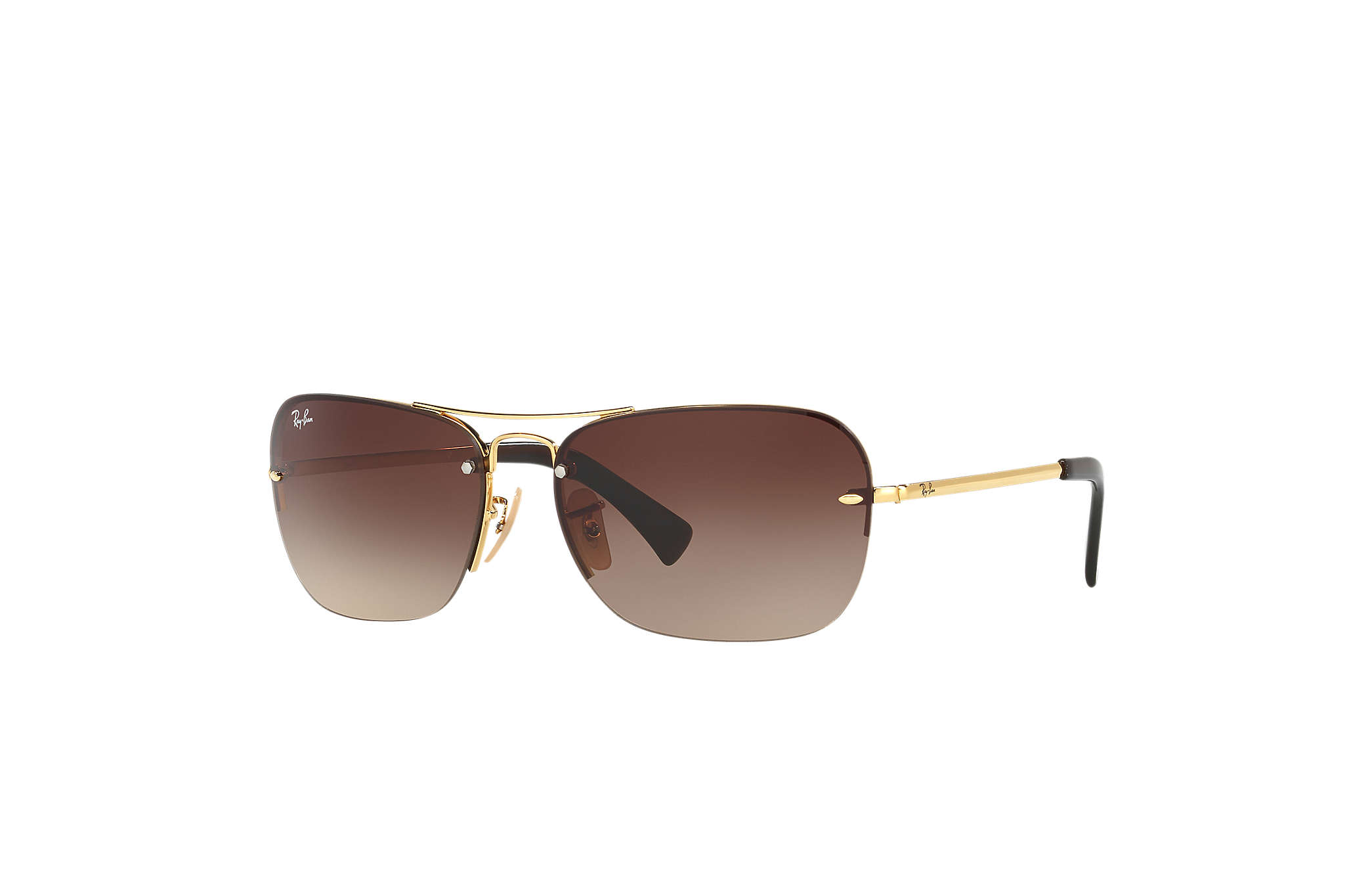rb3476  Ray-Ban RB3541 Gold, Brown Lenses