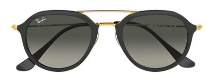 Ray-Ban SİYAH  RB4253 GRİ Degrade lens ile