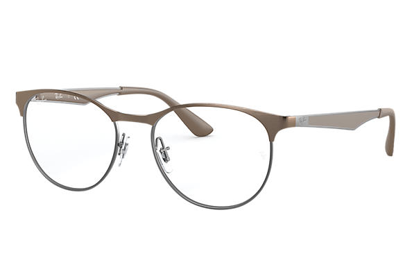 Ray-Ban 0RX6365-RB6365 Marrone,Grigio; Canna di fucile,Marrone OPTICAL