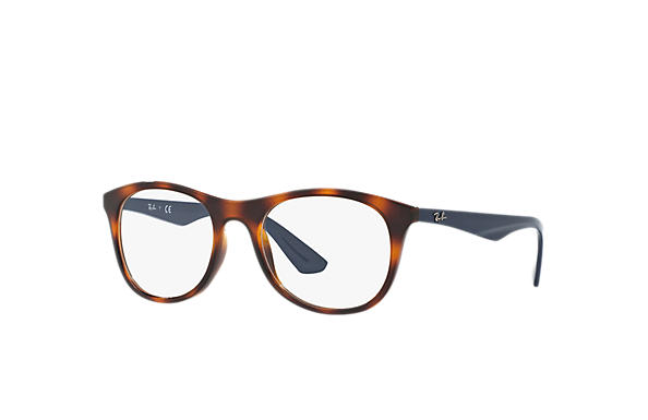 Ray-Ban 0RX7085-RB7085 Tortoise; Blue OPTICAL