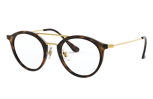 Ray-Ban 0RX7097-RB7097 Tortoise; Gold OPTICAL
