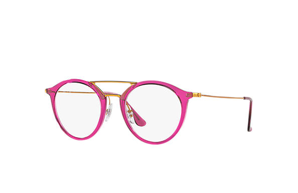 Ray-Ban 0RX7097-RB7097 Viola-Rosso; Bronzo-Rame OPTICAL