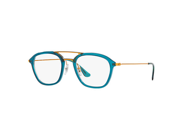 Ray-Ban 0RX7098-RB7098 Bleu; Bronze-cuivre OPTICAL