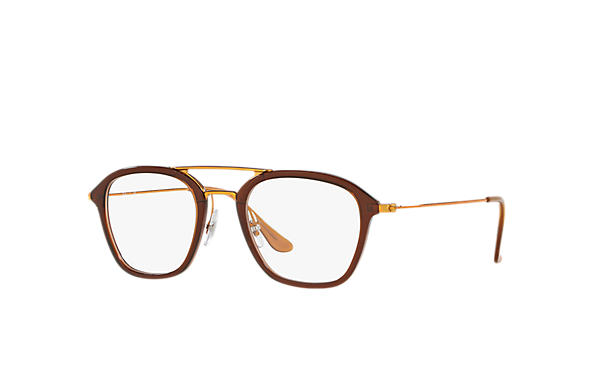 Ray-Ban 0RX7098-RB7098 Marron; Bronze-cuivre OPTICAL
