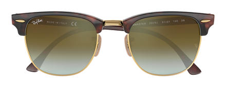 Ray-Ban CLUBMASTER FLASH LENSES GRADIENT Tortoise with Green Gradient Flash lens