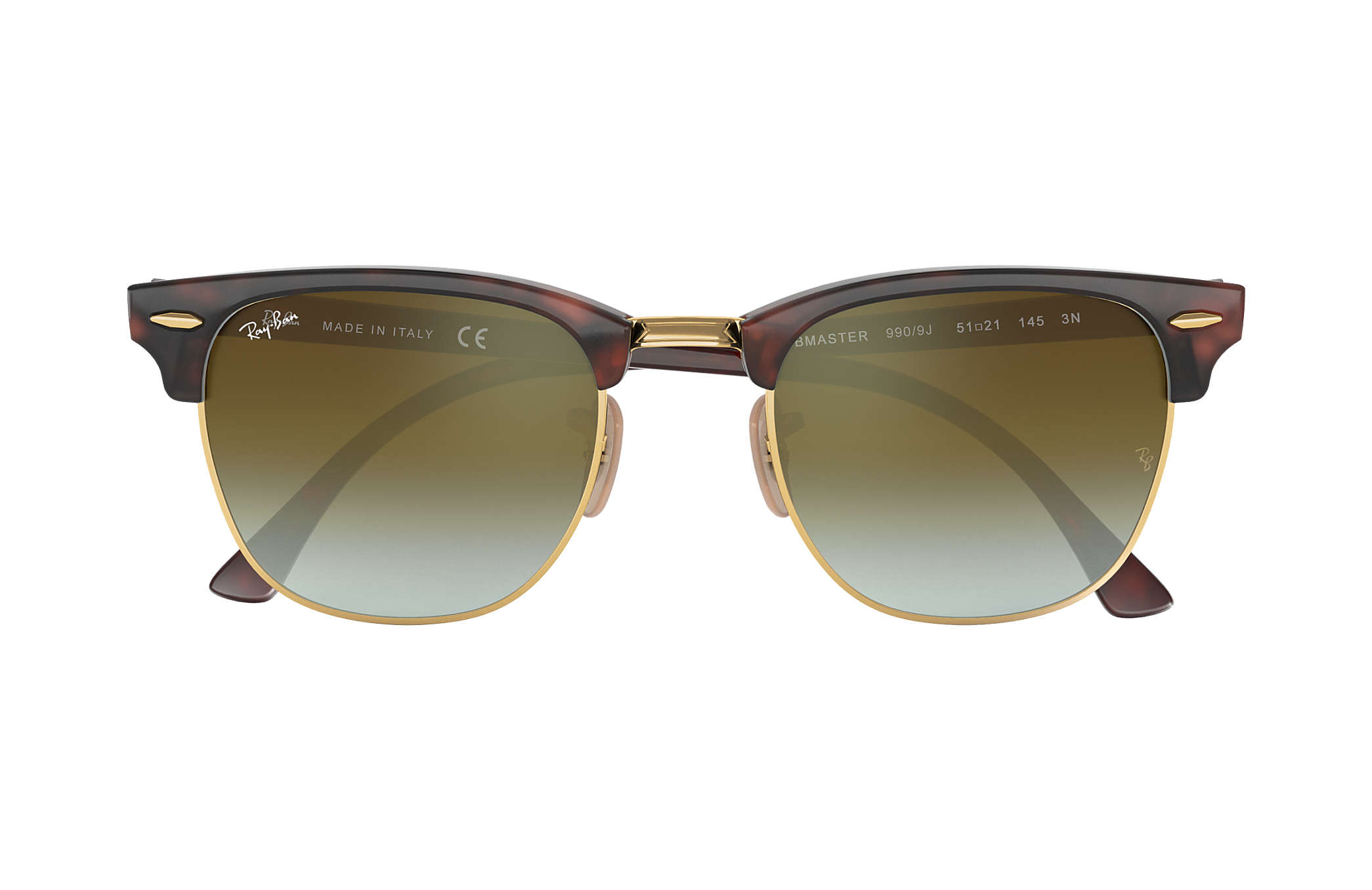ray ban green clubmaster  Ray-Ban Clubmaster Flash Lenses Gradient Tortoise,Gold Tortoise ...