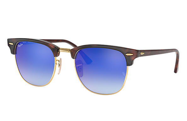 Ray-Ban 0RB3016-CLUBMASTER FLASH LENSES GRADIENT Havana,Gold; Havana SUN