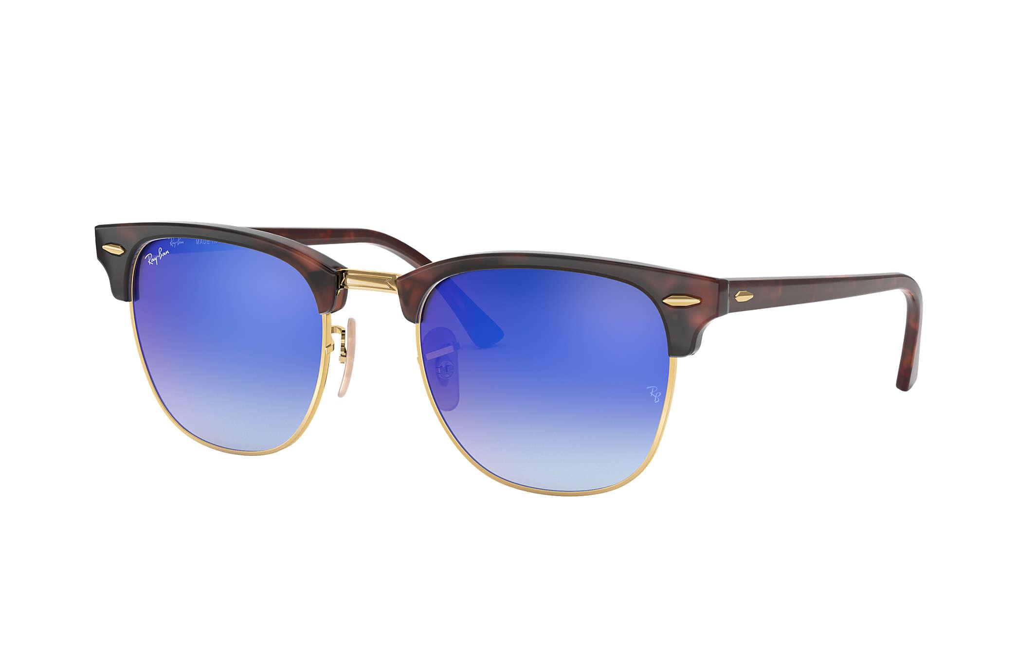 Ray ban sunglasses gradient - Ray Ban 0rb3016 Clubmaster Flash Lenses Gradient Tortoise Gold Tortoise Sun