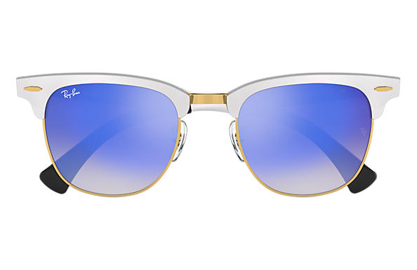 clubmaster aluminum  Ray-Ban Clubmaster Aluminum Flash Lenses Gradient Silver, RB3507 ...