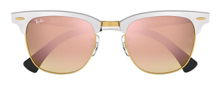 Ray-Ban CLUBMASTER ALUMINUM FLASH LENSES GRADIENT Silver with Copper Gradient Flash lens
