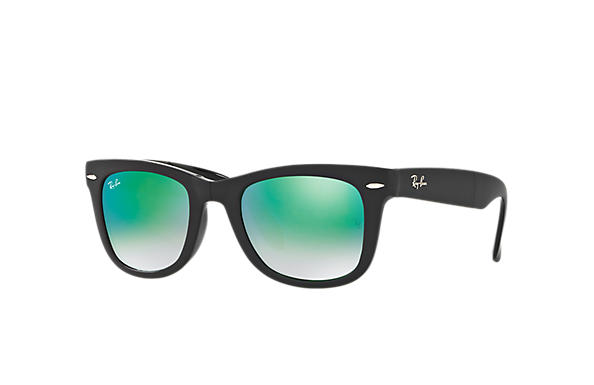 lenses ray ban  ray ban 0rb4105 wayfarer folding flash lenses black sun