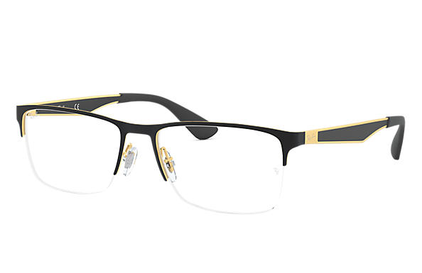 ray ban sunglasses black gold  ray ban 0rx6335 rb6335 black,gold; gold,black optical