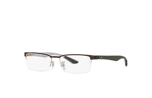 Ray-Ban 0RX8412-RB8412 Marron,Argent OPTICAL