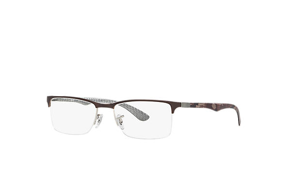 Ray-Ban 0RX8413-RB8413 Brown,Silver; Multicolor,Silver OPTICAL