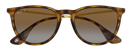 Ray-Ban ERIKA at Collection Tortoise with Brown Gradient lens