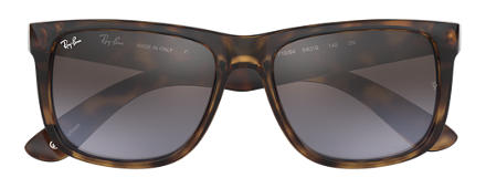 Ray-Ban JUSTIN at Collection Tortoise with Brown/Violet Gradient Mirror lens