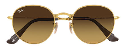 Ray-Ban ROUND FOLDING at COLLECTION Gold with Brown Gradient lens