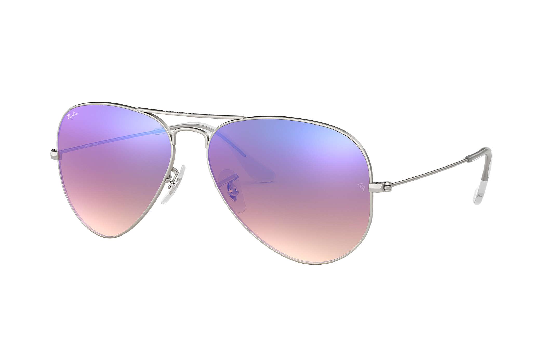 Ray ban sunglasses gradient - Ray Ban 0rb3025 Aviator Flash Lenses Gradient Silver Sun