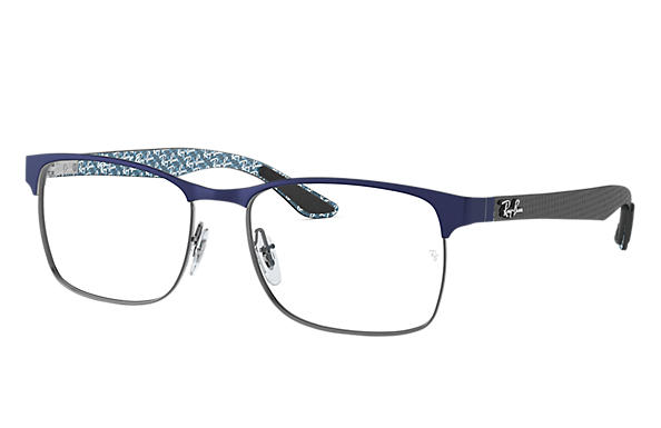 Ray-Ban 0RX8416-RB8416 Blu,Canna di fucile; Nero,Multicolor OPTICAL
