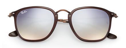 Ray-Ban RB2448N Brown with Silver Gradient Flash lens