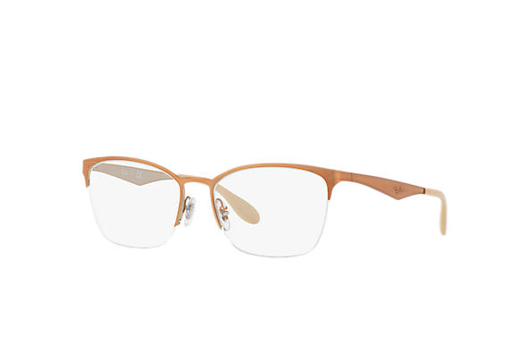 Ray-Ban 0RX6345-RB6345 Marron,Argent OPTICAL