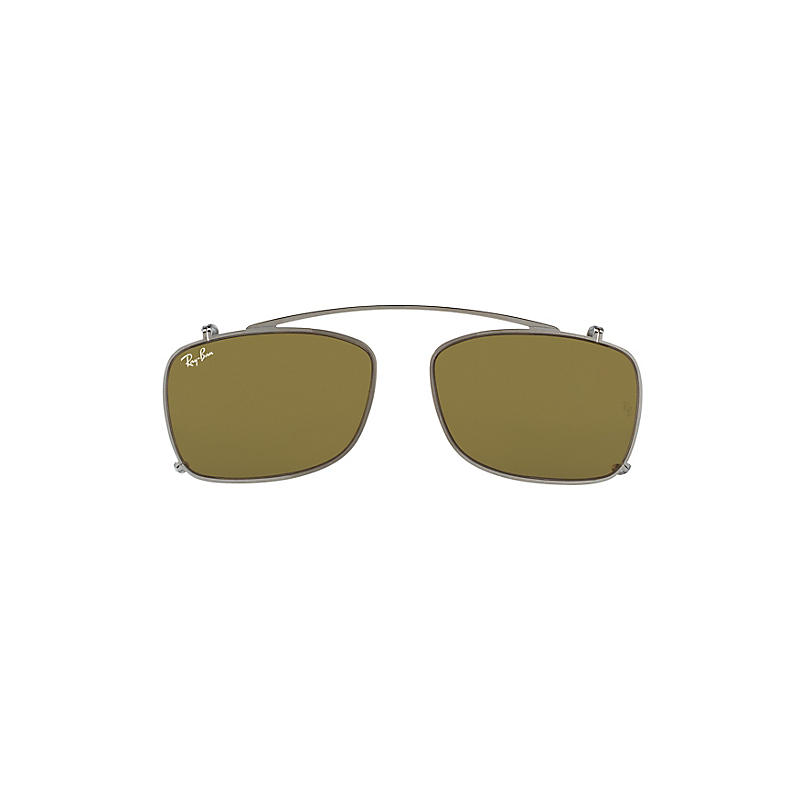 Ray-ban Mens Rb5228 Clip-on Gunmetal Sunglasses Rb5228c