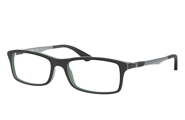 Ray-Ban 0RX7017-RB7017 Schwarz,Grün; Gunmetal OPTICAL