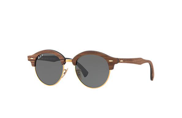 Ray-Ban 0RB4246M-CLUBROUND WOOD Marron,Or; Marron,Noir SUN