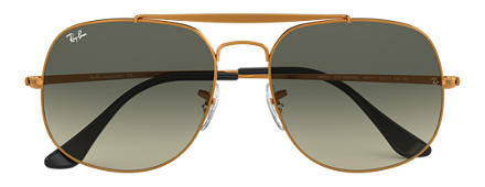 Ray-Ban THE GENERAL Bronzo-Rame con lente Grigio Sfumata