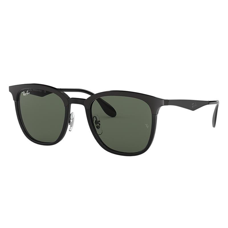 Ray-Ban Black Sunglasses, Green Lenses - Rb4278 8053672730524