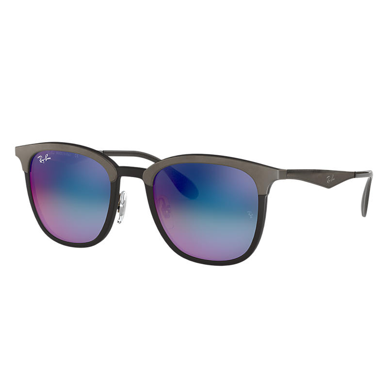 Ray-Ban Grey Sunglasses, Blue Lenses - Rb4278 8053672730548