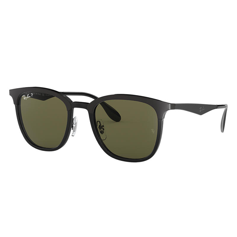 Ray-Ban Black Sunglasses, Polarized Green Lenses - Rb4278 8053672730579