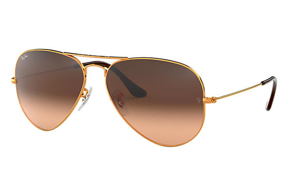 ray ban aviator junior pas cher  ray ban 0rb3025 aviator gradient bronze cuivre sun
