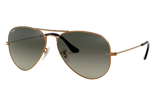 ray ban sunglasses aviator rb3025  ray ban 0rb3025 aviator gradient bronze copper sun