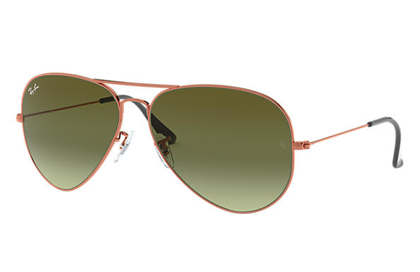 ray ban rb3026  ray ban 0rb3026 aviator large metal ii bronze copper sun