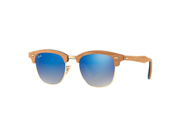 ray ban sunglasses clear frames  ray ban 0rb3016m clubmaster wood blue; brown sun
