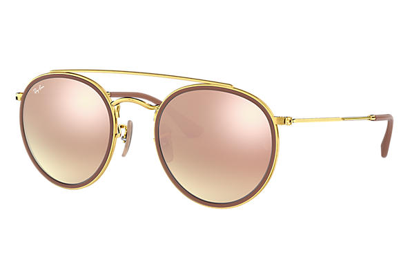 Ray-Ban Round Double Bridge Gold, RB3647N | Ray-Ban® USA