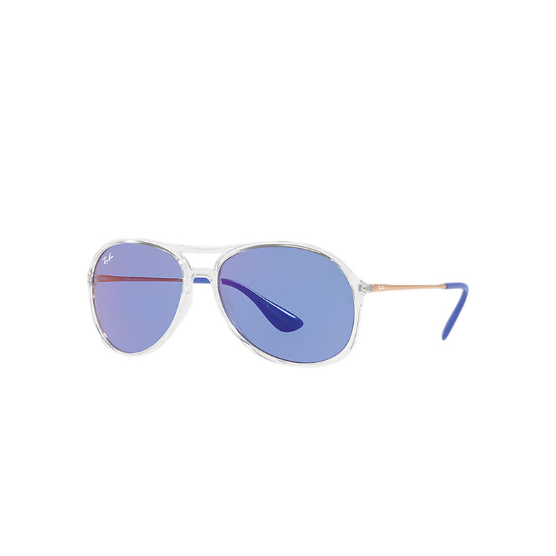 Image of Ray-Ban Alex Copper Sunglasses, Violet Lenses - Rb4201