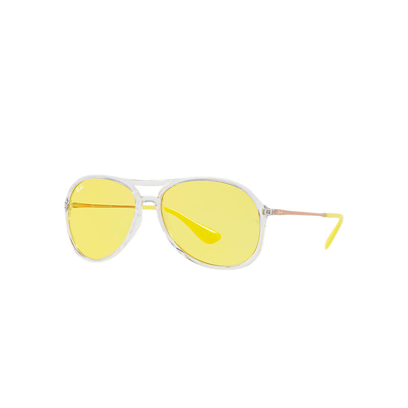 Image of Ray-Ban Alex Copper Sunglasses, Yellow Lenses - Rb4201