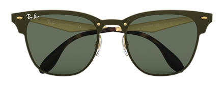 Ray-Ban BLAZE CLUBMASTER Gold with Green Classic lens