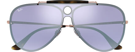 Ray-Ban BLAZE SHOOTER Bronze-Copper with Dark Violet/Silver Mirror lens