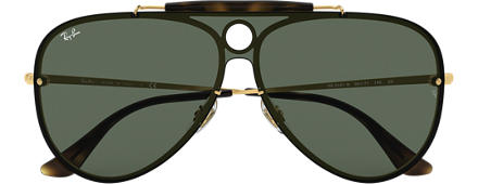 Ray-Ban BLAZE SHOOTER Gold with Green Classic lens