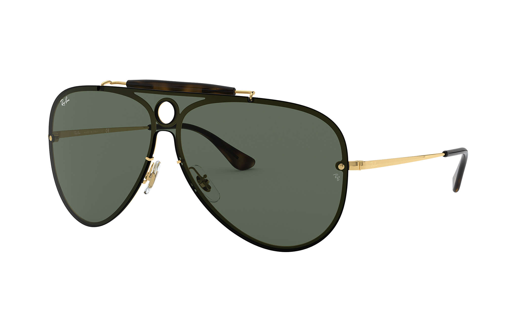 offer ray ban sunglasses  Ray-Ban Blaze Shooter Gold, RB3581N