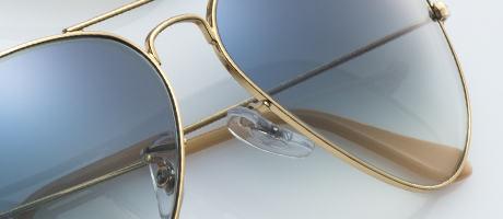 Custom Ray-Ban Aviator nosepad detail