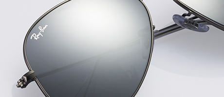 Custom Ray-Ban Aviator frame and lens